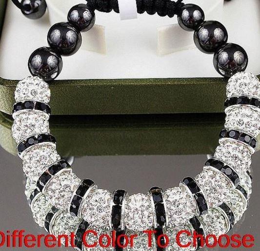 14d418335b76 Manilla Pulsera Cristales Shamballa Piedra Para Hombre Mujer