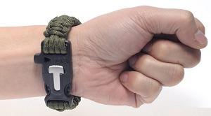 manilla pulsera paracord supervivencia+silbato+pedernal