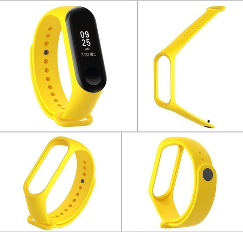 manilla pulso para mi band 3/4  color amarillo unicamente