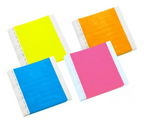 manilla seguridad-brazaletes vip-papel tyvek pulgada