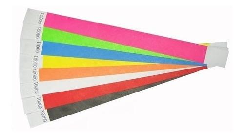 manilla seguridad-brazaletes vip-tyvek-para eventos x100 und