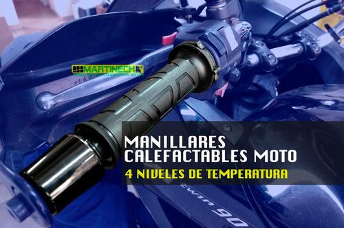 manillares calefactables moto 4 niveles de temperatura