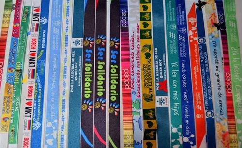 manillas publicitarias ful color