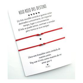 Manillas Pulseras Hilo Rojo Del Destino Acero H1901