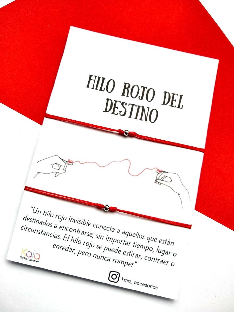 Manillas Pulseras Hilo Rojo Del Destino Acero Plateado 18000 En