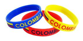 gran venta b77be 91b27 Manillas Tricolor De Colombia En Silicona - Selección Colomb