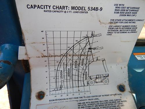 manipulador telescopico gradall 534b-9 4x4 gm106427
