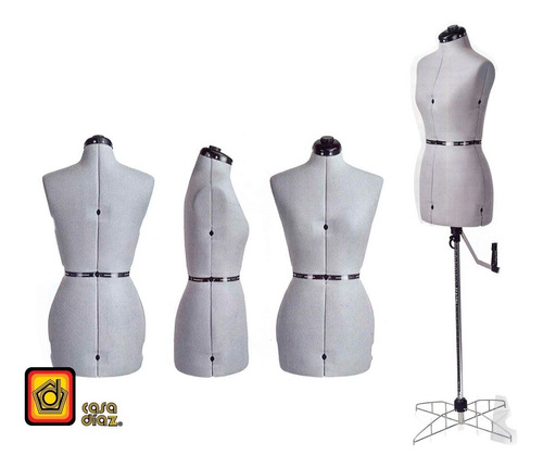 maniquí de modista ajustable mediano ajusta de talla 9 a 11