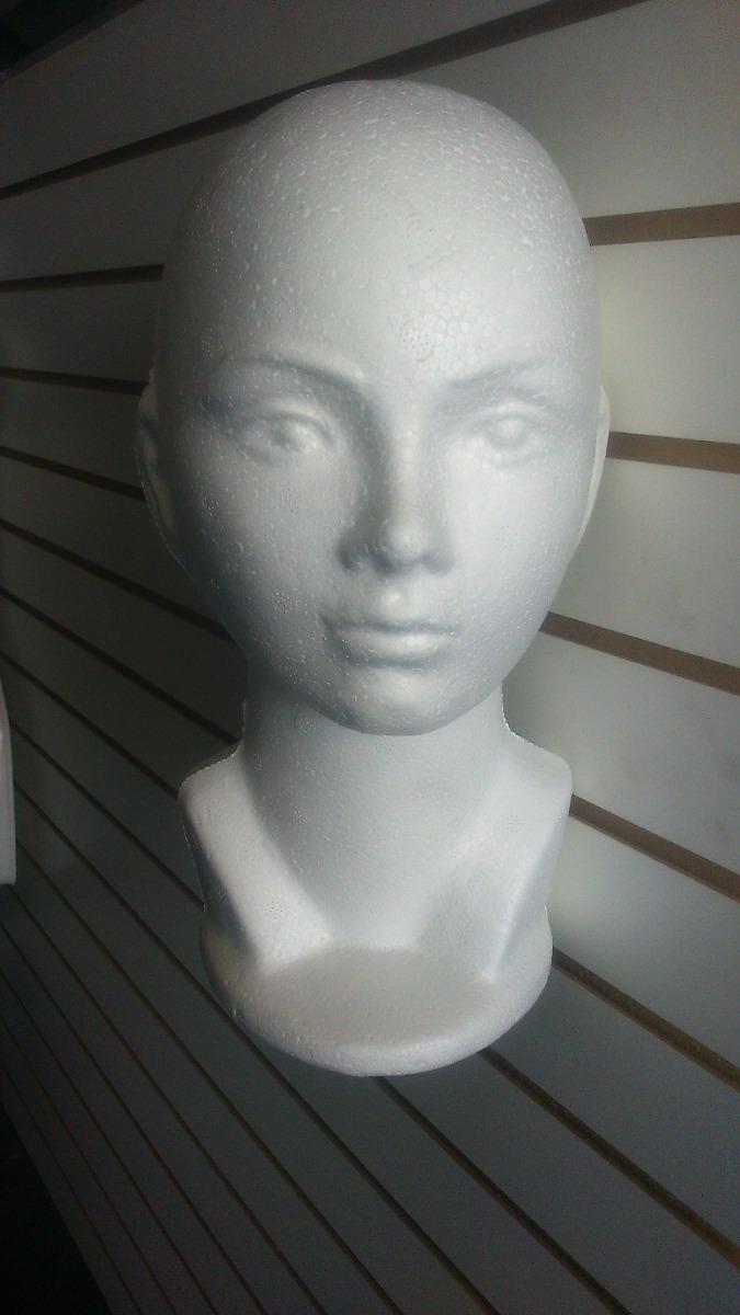 maniqui exhibidor de cabeza unicel