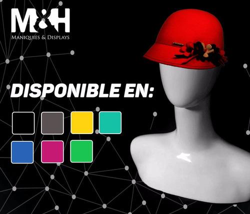 maniquí para exhibir sombreros, gorras y bisuteria