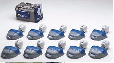 maniquí para rcp medio torso actar d-fib adulto 10 unidades
