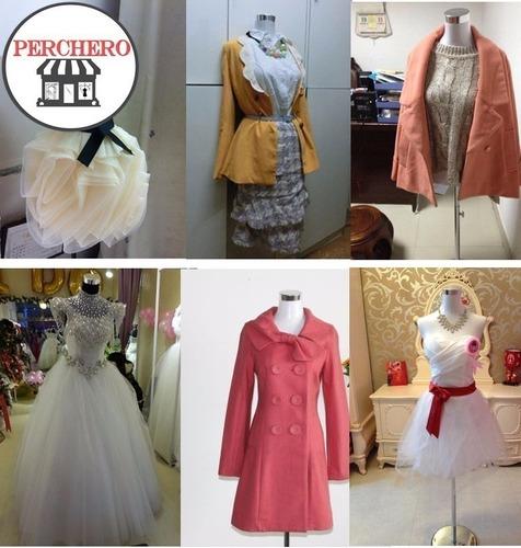 maniqui perchero de exhibición para tienda moda vestuario