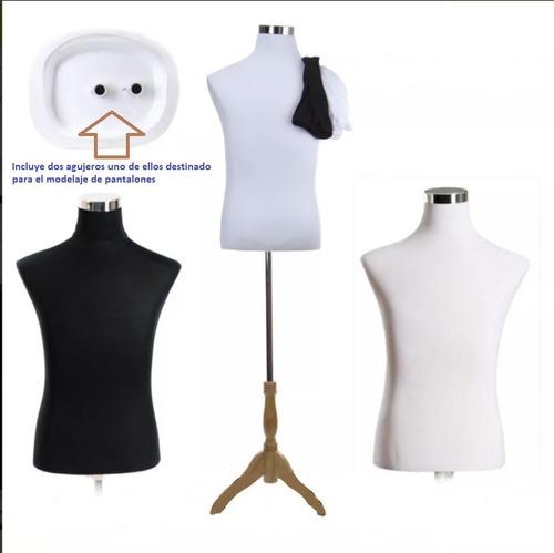 maniquí torso masculino - talla mediana - jerseys negro  bco