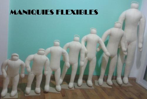 maniquie niño totalmente flexibles tela rellenos hermosos!!!