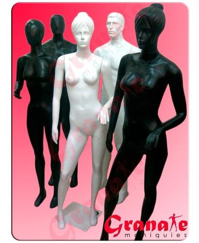 maniquie plastico duro dama u hombre. tres colores.