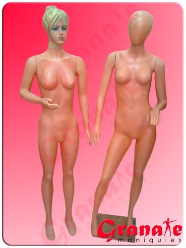 maniquies dama talle especial plastico. envios al interior