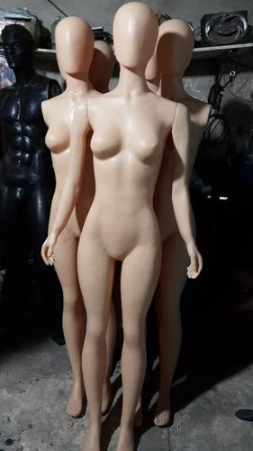 maniquies de plastico dama y hombre facetados.