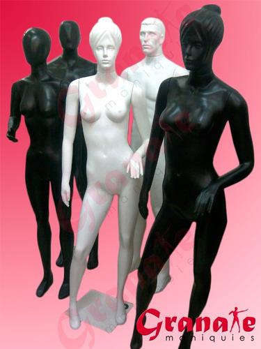 maniquies plasticos facetados o con rostro figurado colores