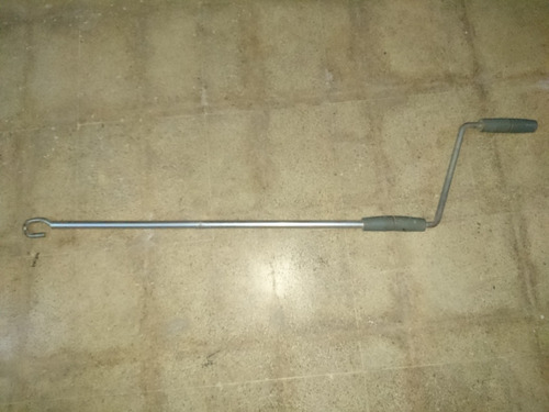 manivela o barra para toldos extensibles de aluminio.