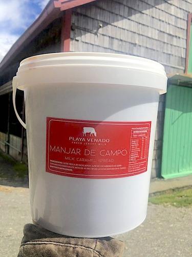 manjar pastelero fundo playa venado, balde 4.5kg, repostería