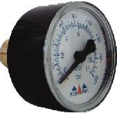manômetro horizontal  0 a 160 lbs rosca 1/4