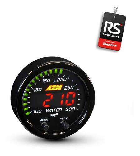 manômetro medidor temperatura óleo/água digital aem