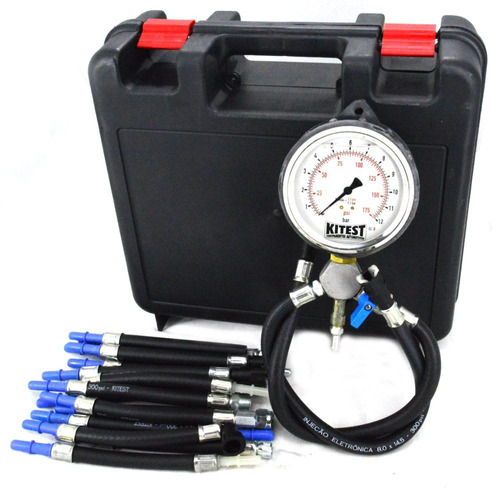 manômetro pressão bomba combustível + 17 mangueiras + maleta