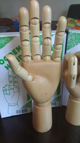 mano articulada madera 28 cm