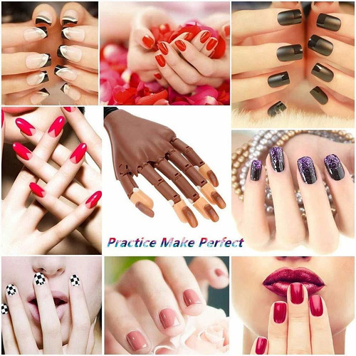 mano de entrenamiento de uñas, para manicura y manicura