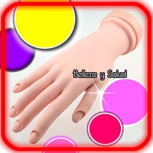 mano de practica aplicacion decoracion diseño uñas acrilico