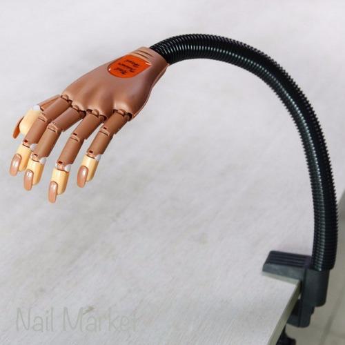 mano de practica ariculada + 100 repuestos curso de uñas