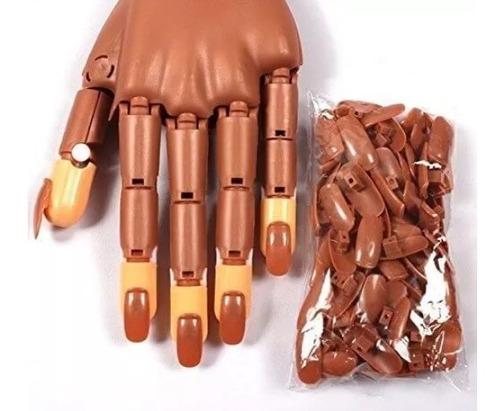 mano de practica articulada - uñas acrilicas y gel uv