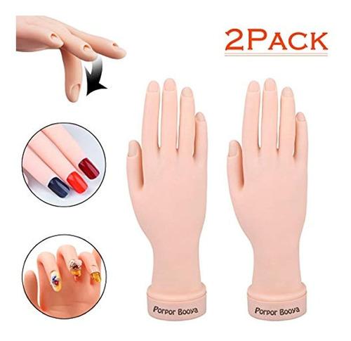 mano de práctica para uñas acrílicas con mano falsa