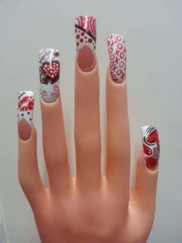 mano de practica y exhibidora de uñas de acrilico