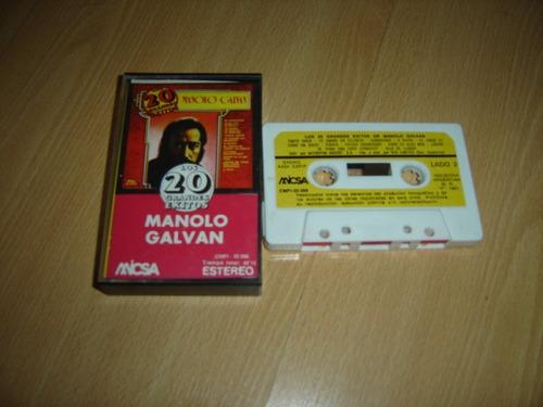 manolo galval los 20 grandes exitos cassette argentina
