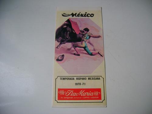 manolo martinez 6 diciembre 1970 porgrama de toros