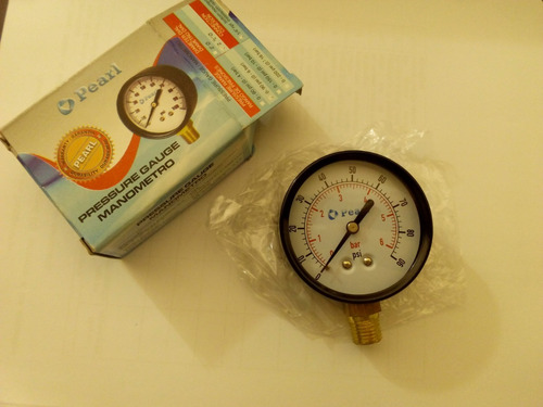 manómetro 0-90 psi pearl