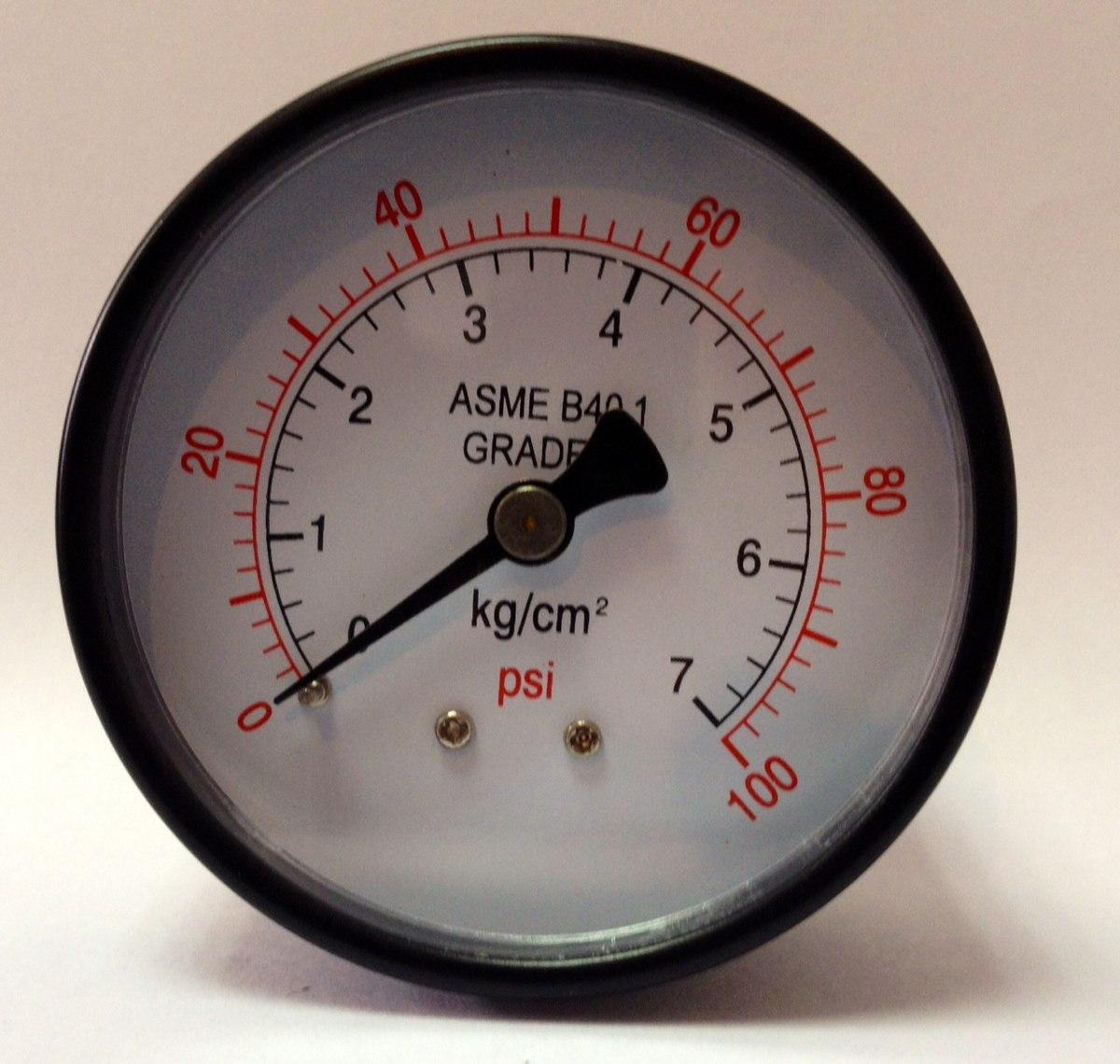 Manometro 2 1 2 x 1 4 npt conexion baja y posterior bs for Manometro para medir presion de agua