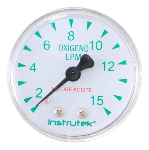 manómetro 2 plg oxígeno medicinal 15 lpm (litros x minuto)