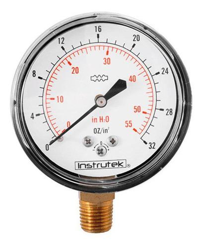 manómetro 32 oz / 55 inh2o para gas lp y nat. baja presión