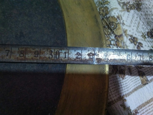manometro bronce antiguo otto franke y cia de 34 cm