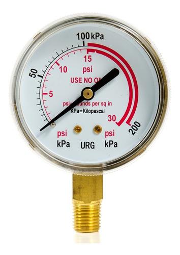 manometro de 0-30 psi 2 1/2  - weldtech