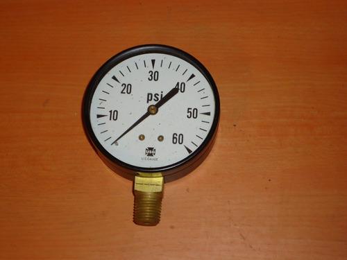 manometro de 2 , 0-60 psi,conexion 1/4