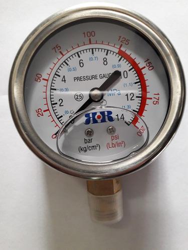 manometro de glicerina de 1/4 0-200 psi