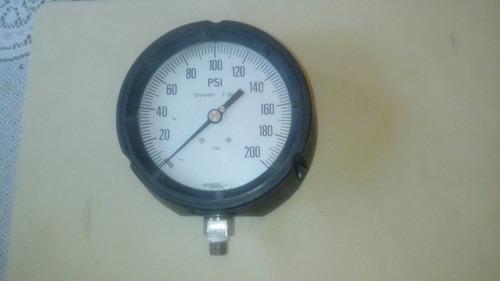 manómetro dial 4.1/2  conexion por abajo de 0 a 200 psi