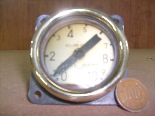manómetro francés antiguo marcador de volúmen