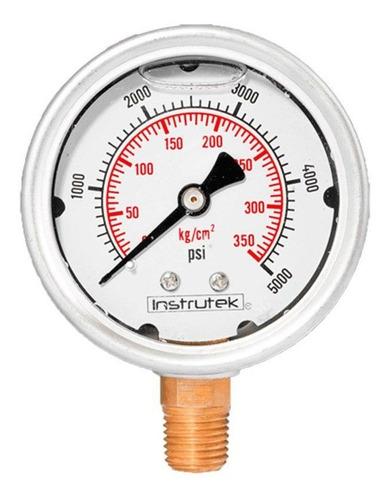 manómetro inox alta presión glicerina 2.5 plg, 5000 psi