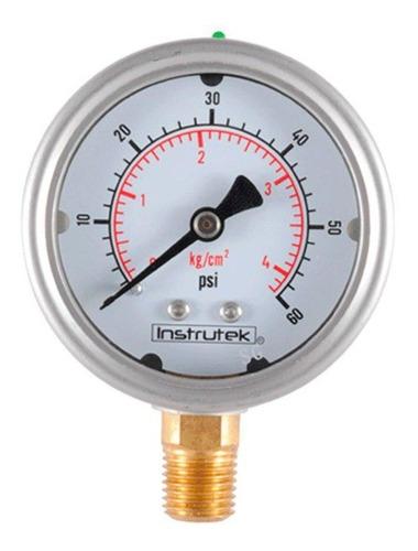manómetro inox glicerina 2.5 plg , 60 psi (aire, agua)