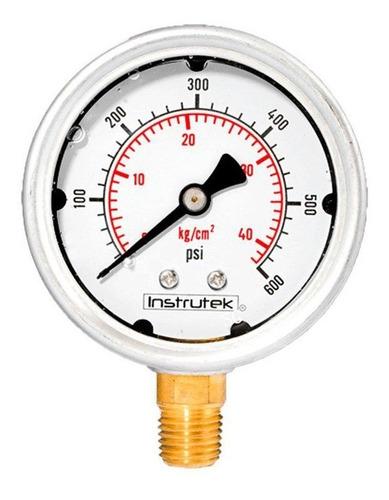manómetro inox glicerina 2.5 plg , 600 psi (aire, agua)