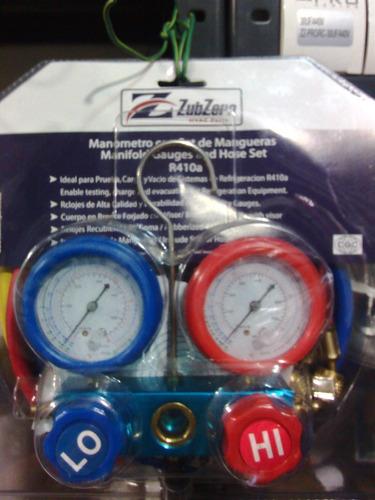 manometro para aire acondicionado r-410a y r-134a
